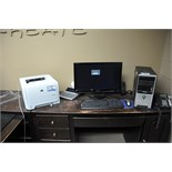 "Velocity Model Core 2 Duo Computer; with Samsung 24"" LCD Monitor, HP LaserJet P2035 Printer"