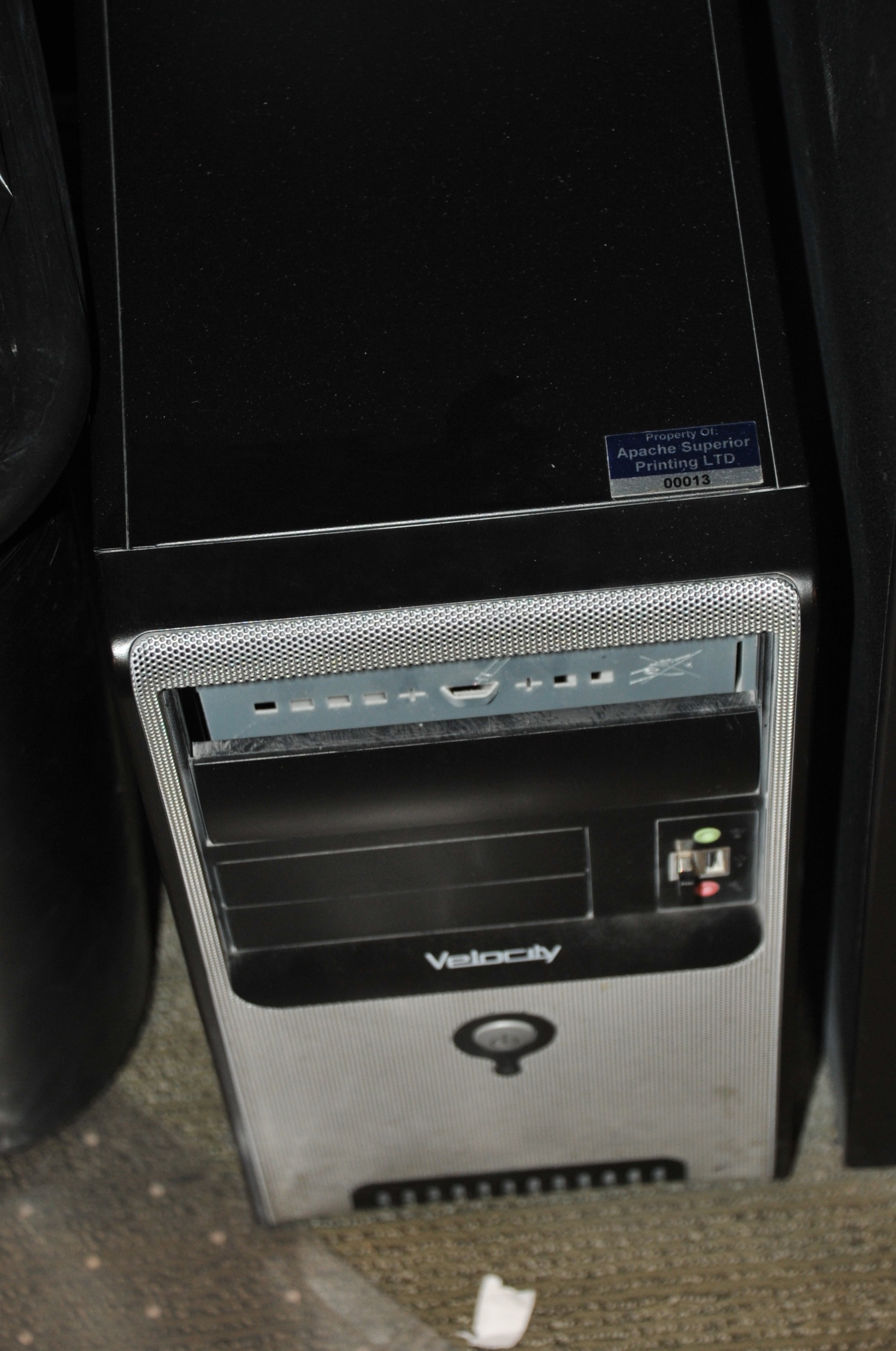 """HP Model Compaq DC 5700 Micro Tower Core 2 Duo Computer; with ViewSonic 24"""" 1080P Full HD LED - Image 2 of 3"""