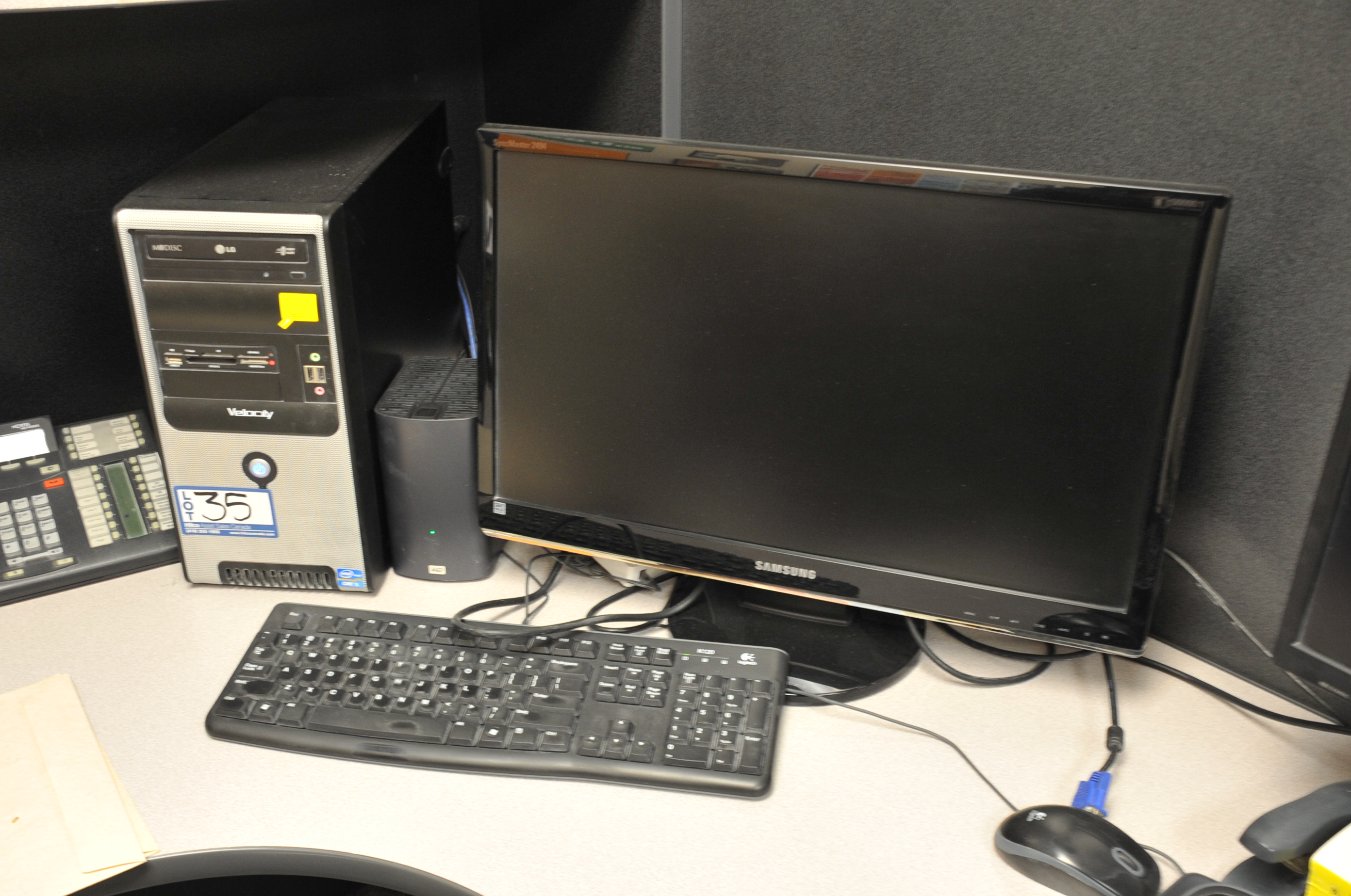"""Velocity Model Core I5 Computer; with 24"""" Samsung LCD Monitor"""