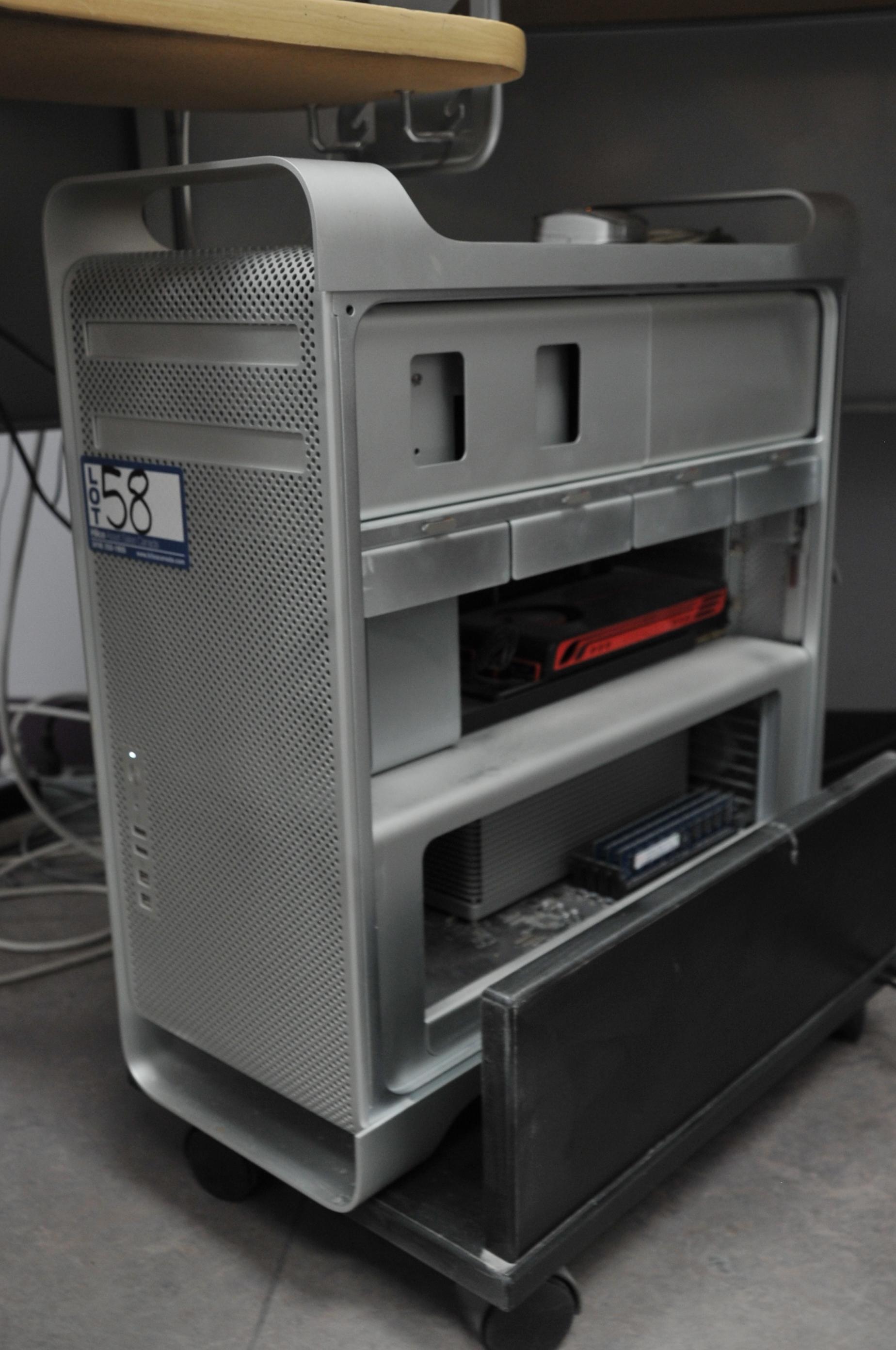 Mac Model Pro G5 Quad Core 2.8Ghz Xeon Processor; Serial Number: H00471R9EUG; 6Gb DDR3 Memory, ATI