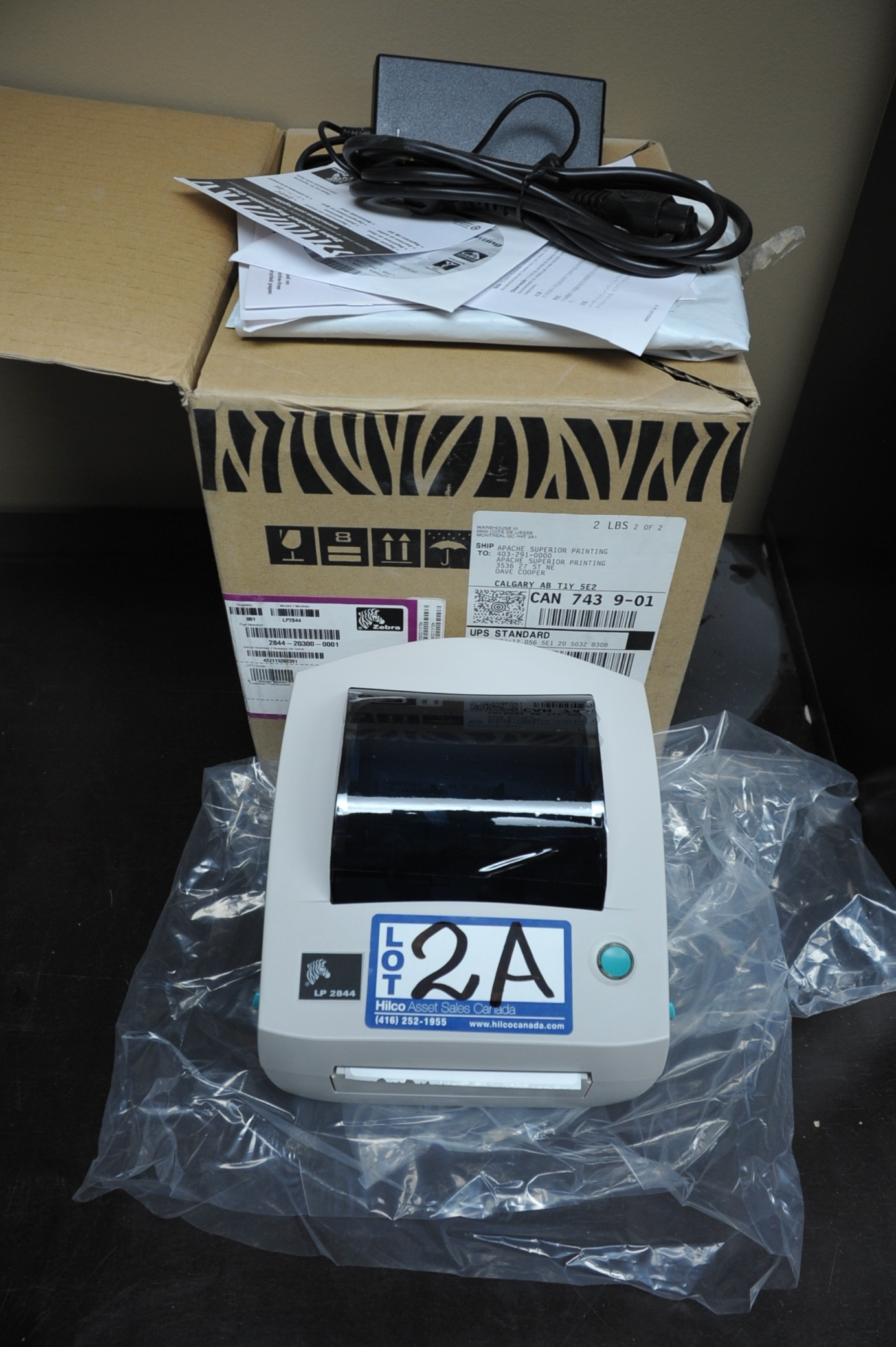 Zebra Model LP2844 Label Printer