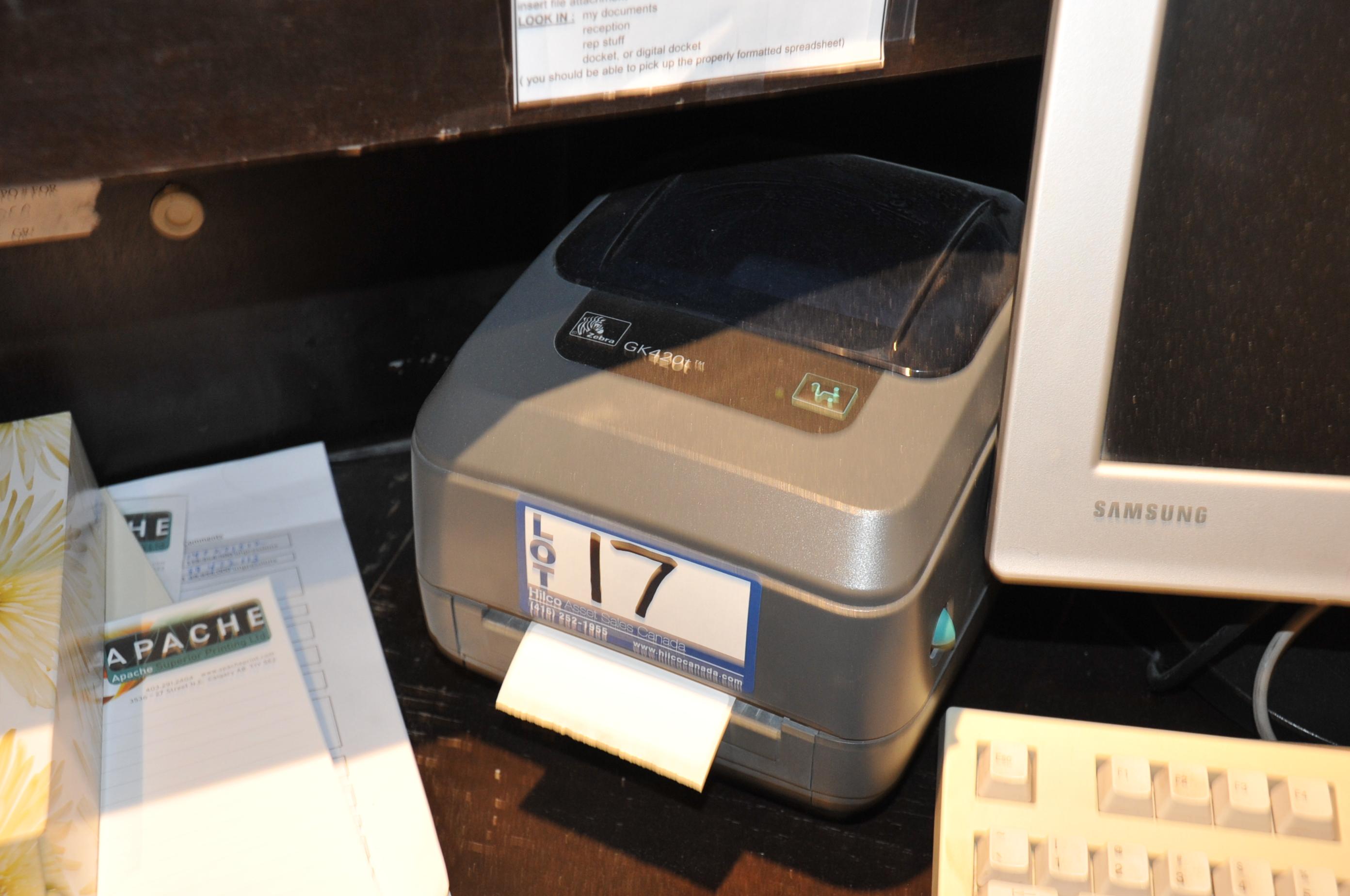 Zebra Model GK420T Label Printer