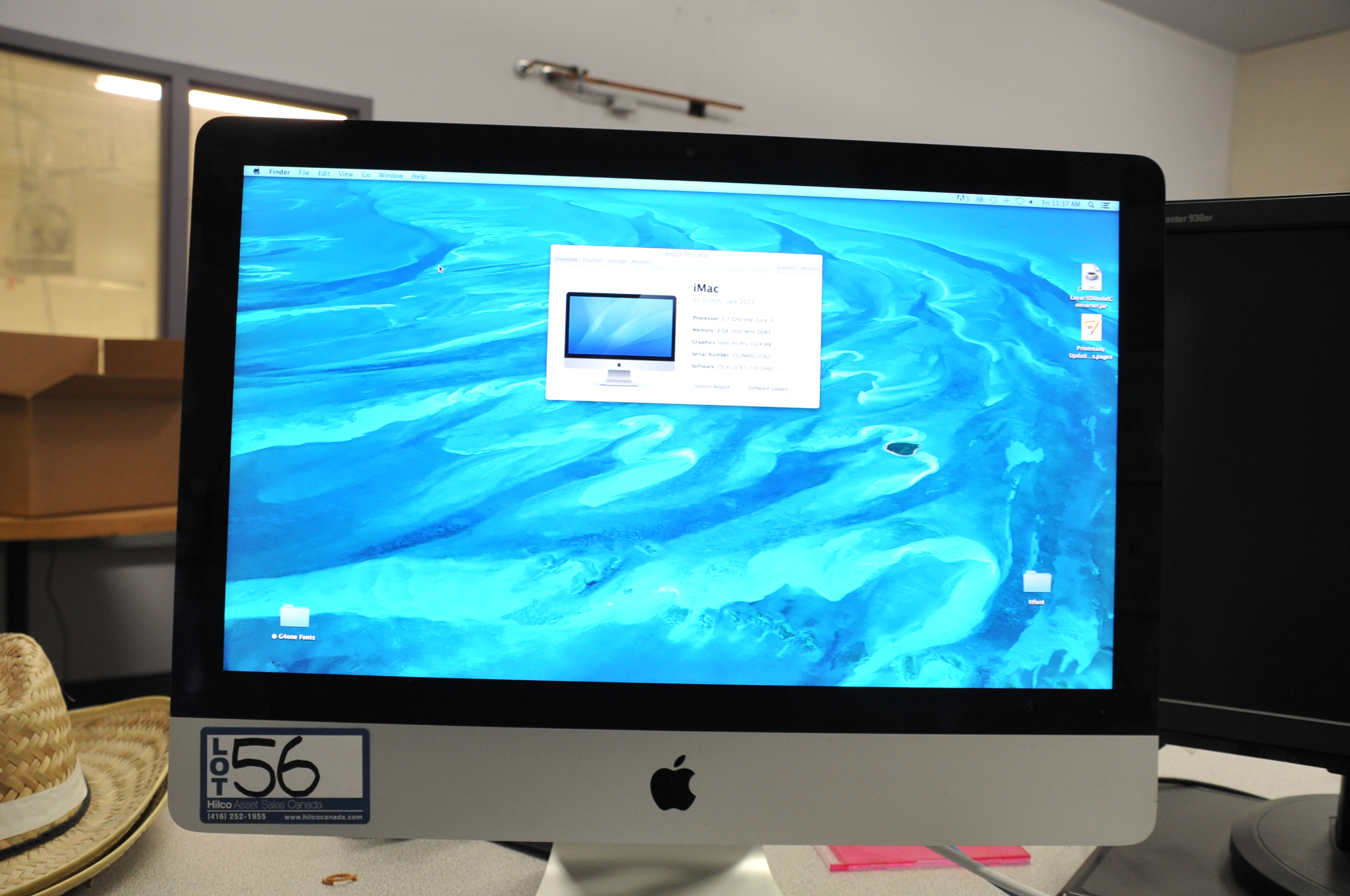 iMac Model A1418 2.7Gz Core I5, 8Gb, 1600Mhz, DDR3 Computer; Serial Number: C02M4Q15F8J2; Loaded