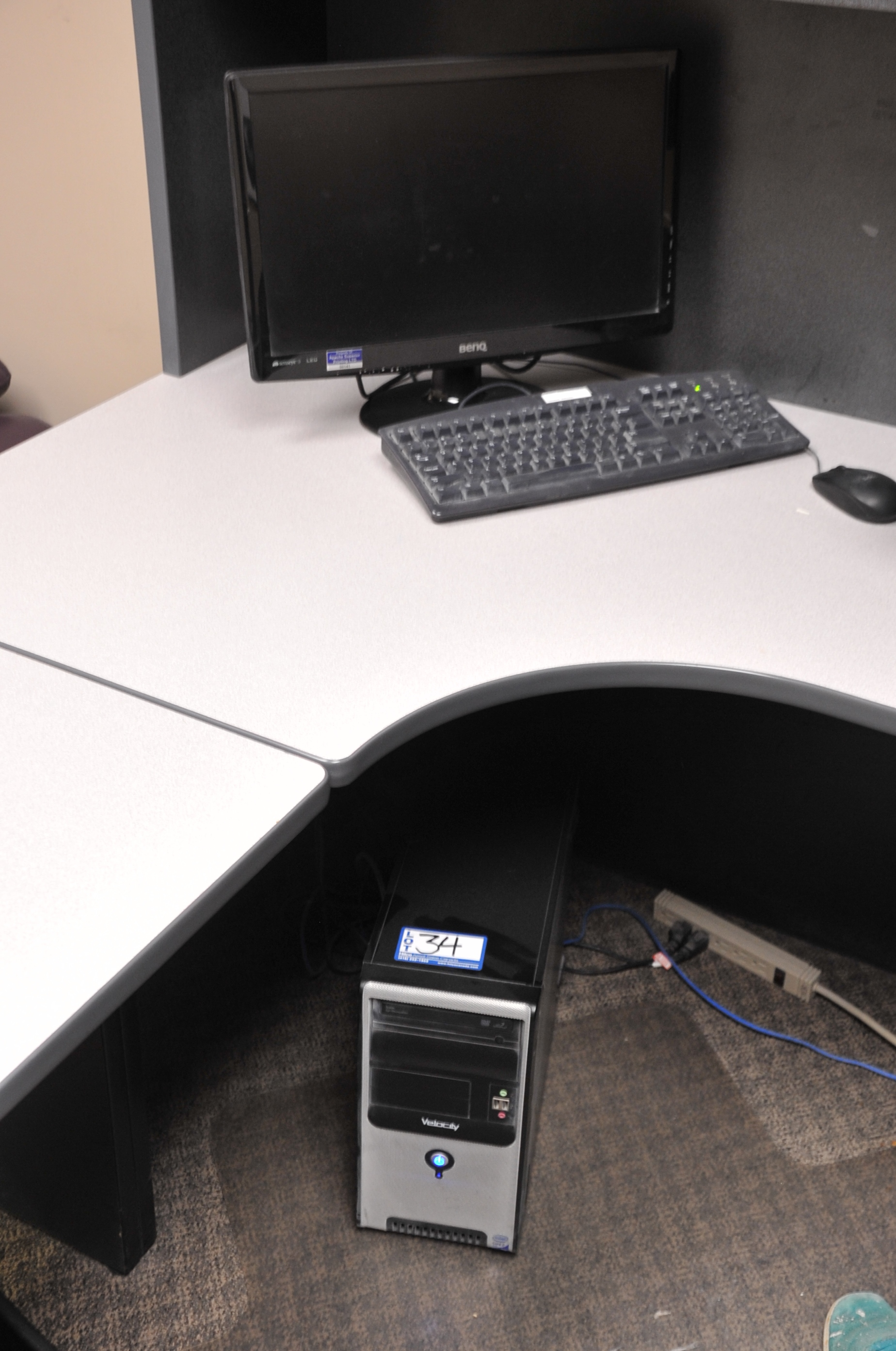 """Velocity Model Core 2 Duo Computer; with 20"""" Benq LED Monitor"""