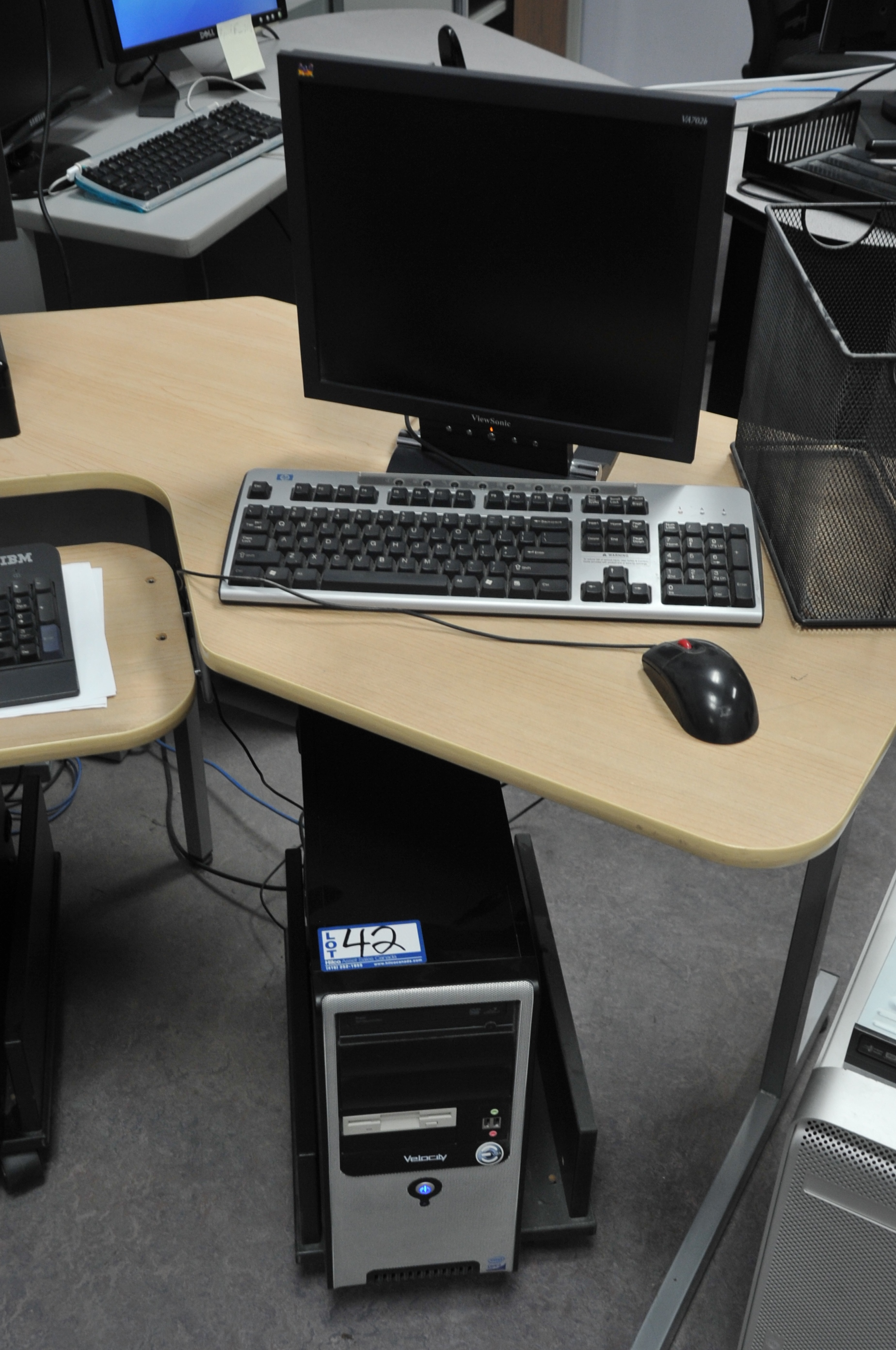 Velocity Model Core 2 Duo Computer; with LCD Monitor