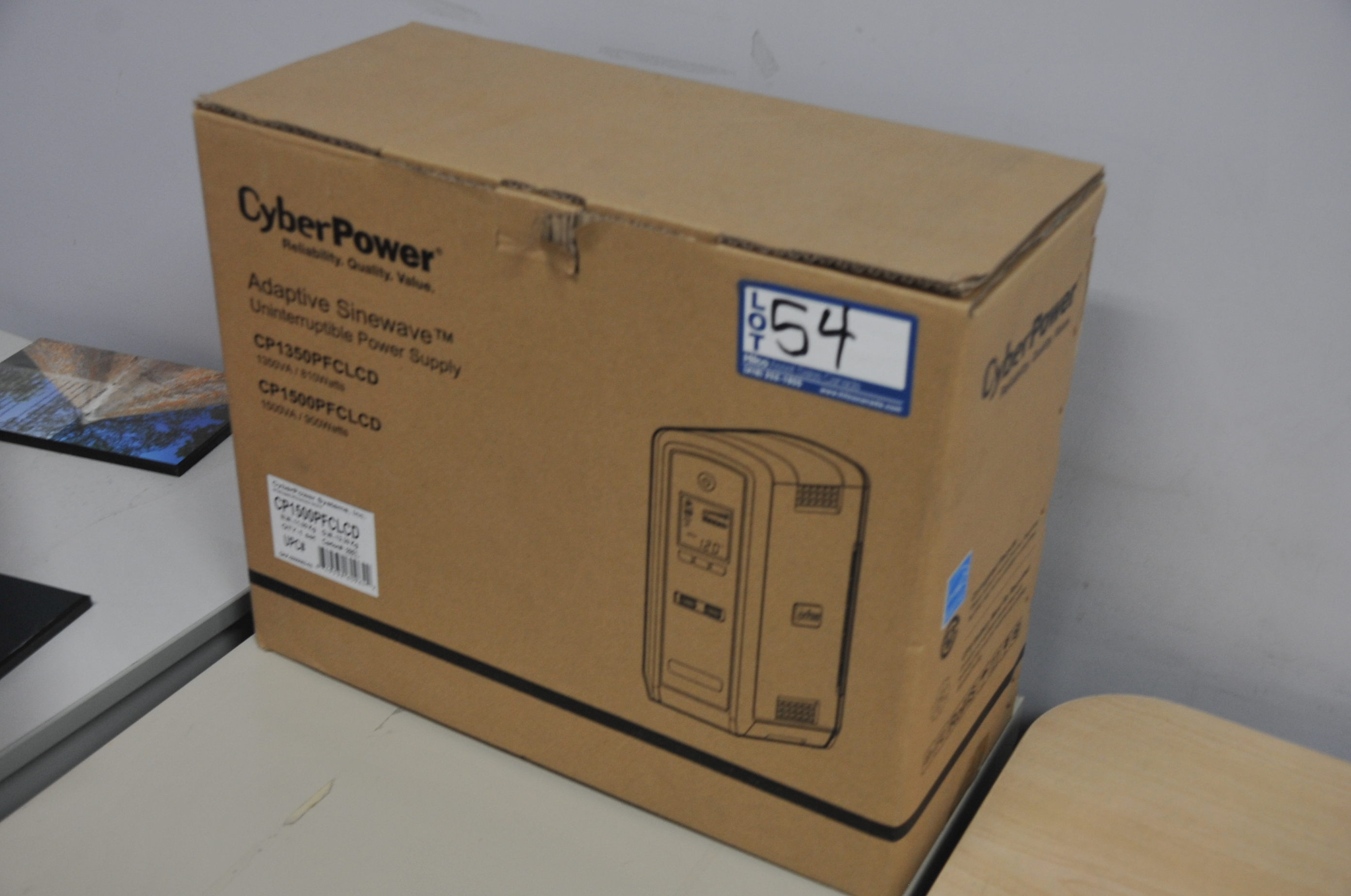 Cyber Model Power CP1500PFCLCD UPS; (NEW)