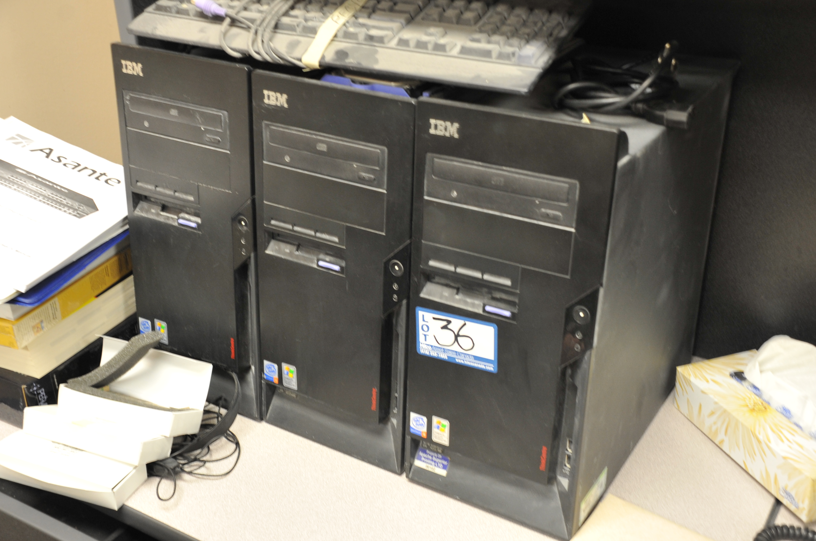 Lot of (3) IBM Model P4 Computer; with (3) Samsung Printers