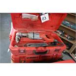 Milwaukee 90 Degree Electric Drills (2) (1-NEEDS REPAIR) (SOLD AS-IS - NO WARRANTY)