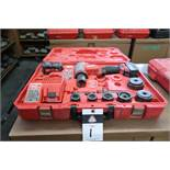 Milwaukee 10 Ton Cordless Knockout Punch Tool w/ Battery and Charger (SOLD AS-IS - NO WARRANTY)