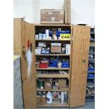 SHOP CABINET WITH CONTENTS