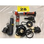 LOT OF ASSSORTED BATTERY POWERED HAND TOOLS
