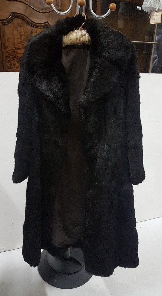 Lot 5 - Lady's ¾ Length Fur Coat, size 12 approx