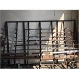 (LOT) MATERIAL RACK AND MISC. METAL- ALUMINUM, STEEL