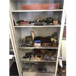 (LOT) SHOP CABINET WITH MISC. INSPECTION- GAGES, MICS