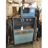 (1) MILLER SYNCROWAVE 300 WELDER WITH MILLER COOLER