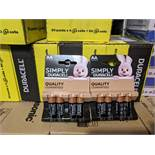 50 Packs Of New 4 Duracell AA Batteries