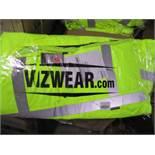 10pcs Brand New Vizwear Padded Yellow Parka - Larger 3xl Sizes