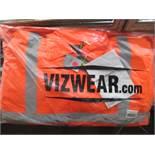 10pcs Brand New Vizwear Padded Orange Bomber - Larger 3xl Sizes