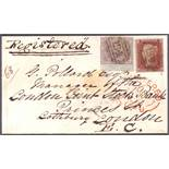 GREAT BRITAIN STAMPS : 1856 small envelo