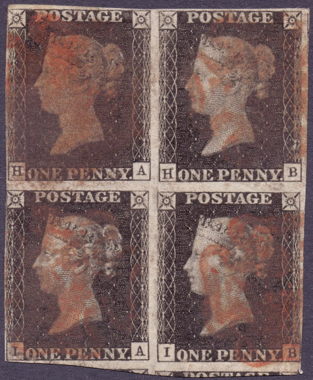 Lot 189 - GREAT BRITAIN STAMPS : PENNY BLACK Plate