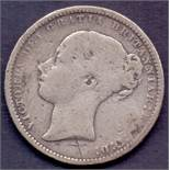 COINS : 1874 Great Britain Shilling, fin