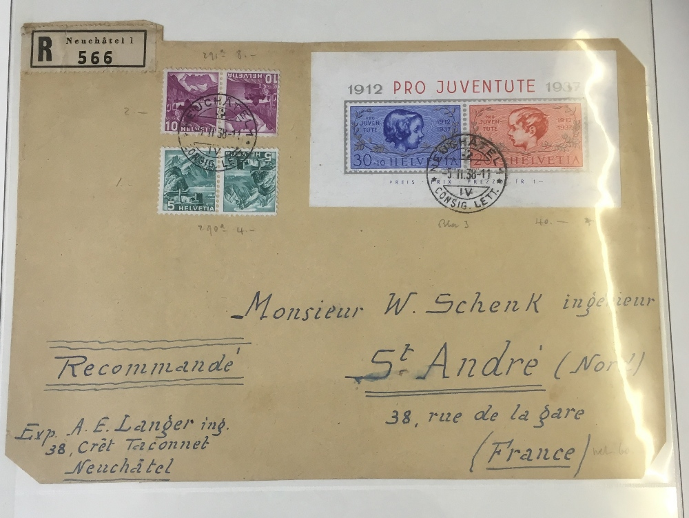 Lot 93 - POSTAL HISTORY : SWITZERLAND, 1930/40s c
