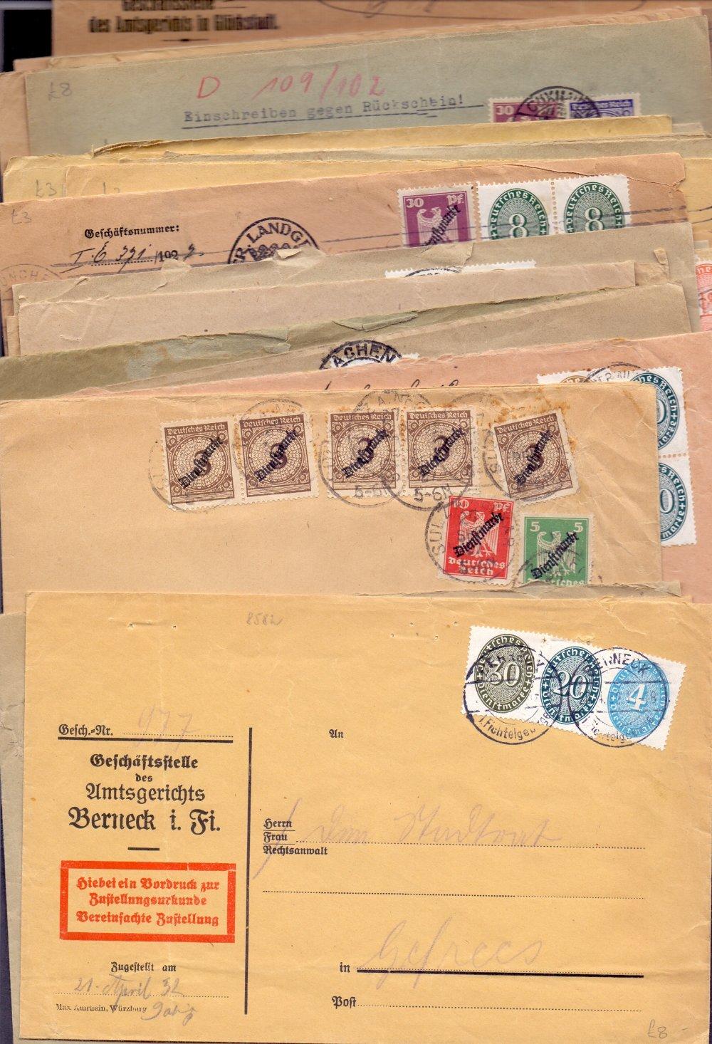 Lot 86 - POSTAL HISTORY : GERMANY, selection of O