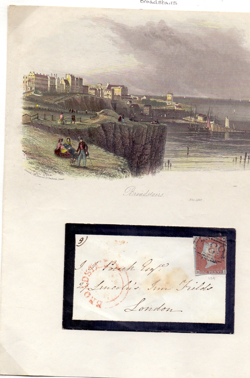 Lot 133 - POSTAL HISTORY STAMPS : BROADSTAIRS, 184
