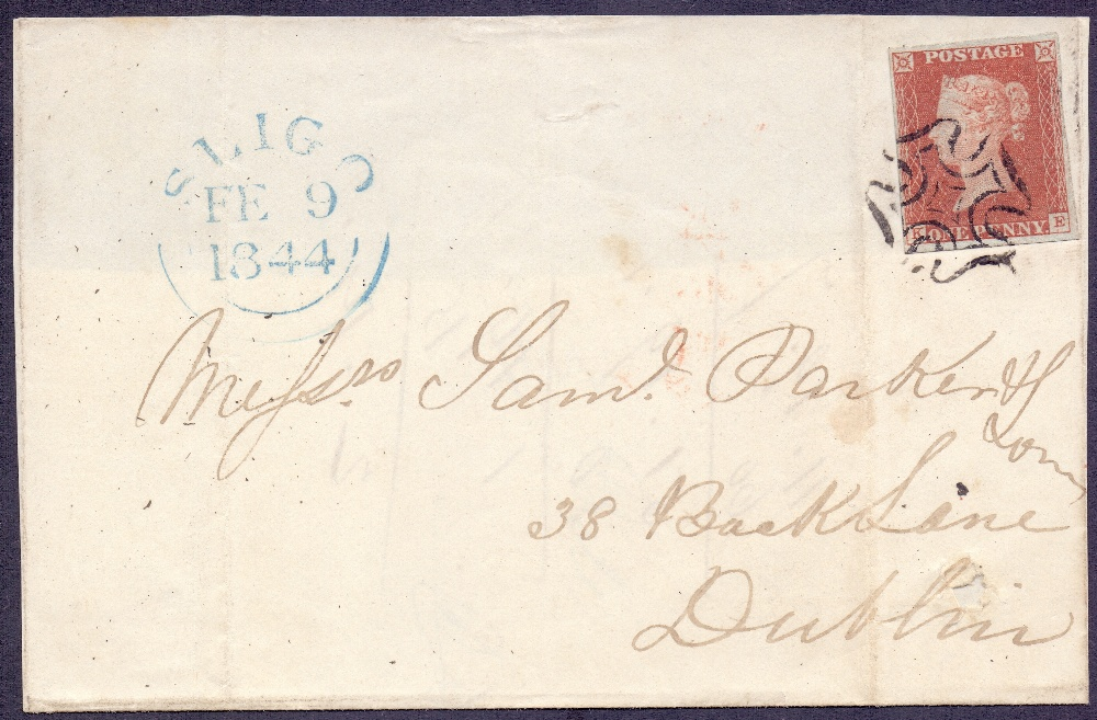 Lot 164 - GREAT BRITAIN STAMPS : 1844 part wrapper