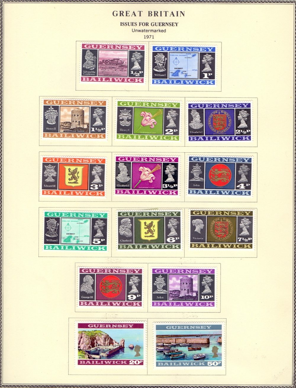 STAMPS Various Europe in green album, Ch