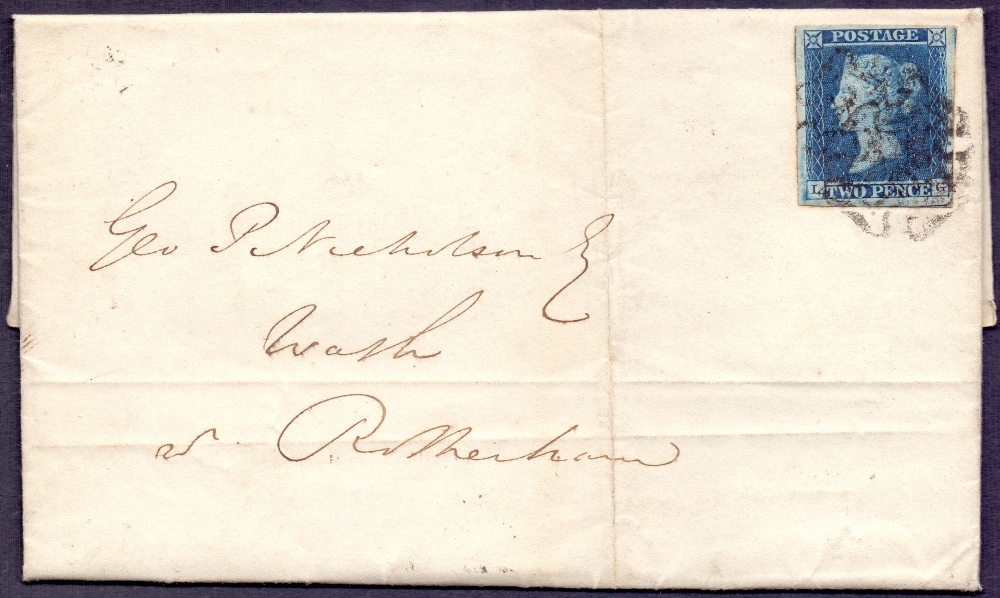 Lot 160 - GREAT BRITAIN STAMPS : 1842 Entire wrapp