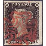 GREAT BRITAIN STAMPS : PENNY BLACK Plate
