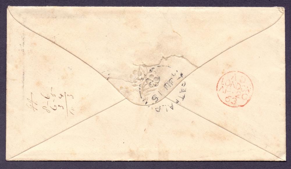Lot 134 - POSTAL HISTORY STAMPS : CHATHAM, 1854 en