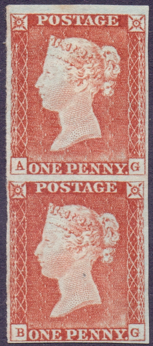 Lot 198 - GREAT BRITAIN STAMPS : 1841 1d Pale Red