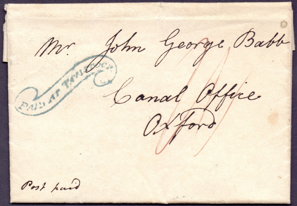 Lot 151 - GREAT BRITAIN POSTAL HISTORY : 1826 Tavi