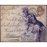 GREAT BRITAIN POSTAL HISTORY : 1880 hand