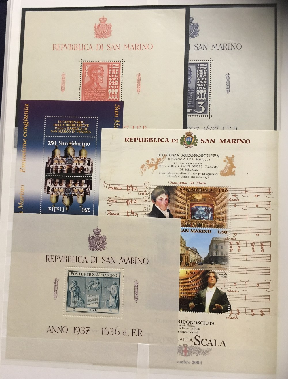 Lot 5 - STAMPS Southern Europe in 62 page blue s