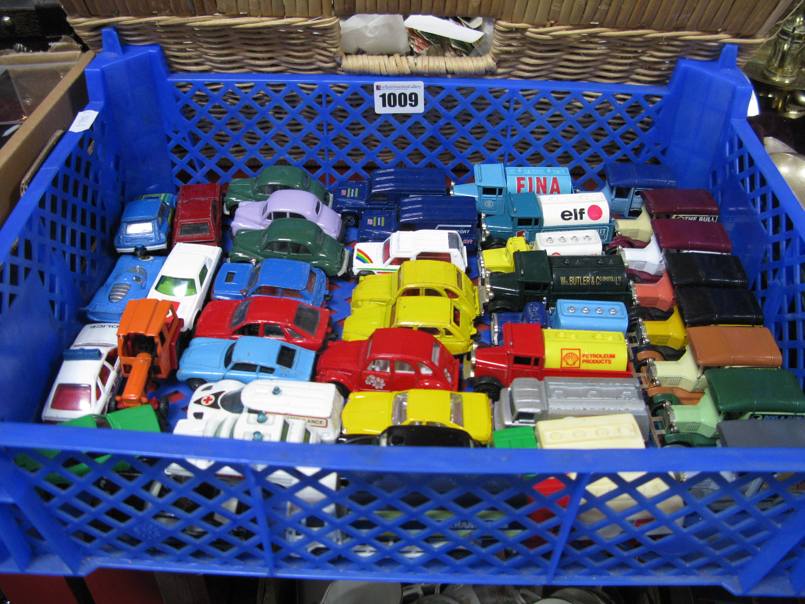 Lot 1009 - Over Forty Diecast and Plastic Corgi Juniors - including cars, commercial and vintage vehicles:- One