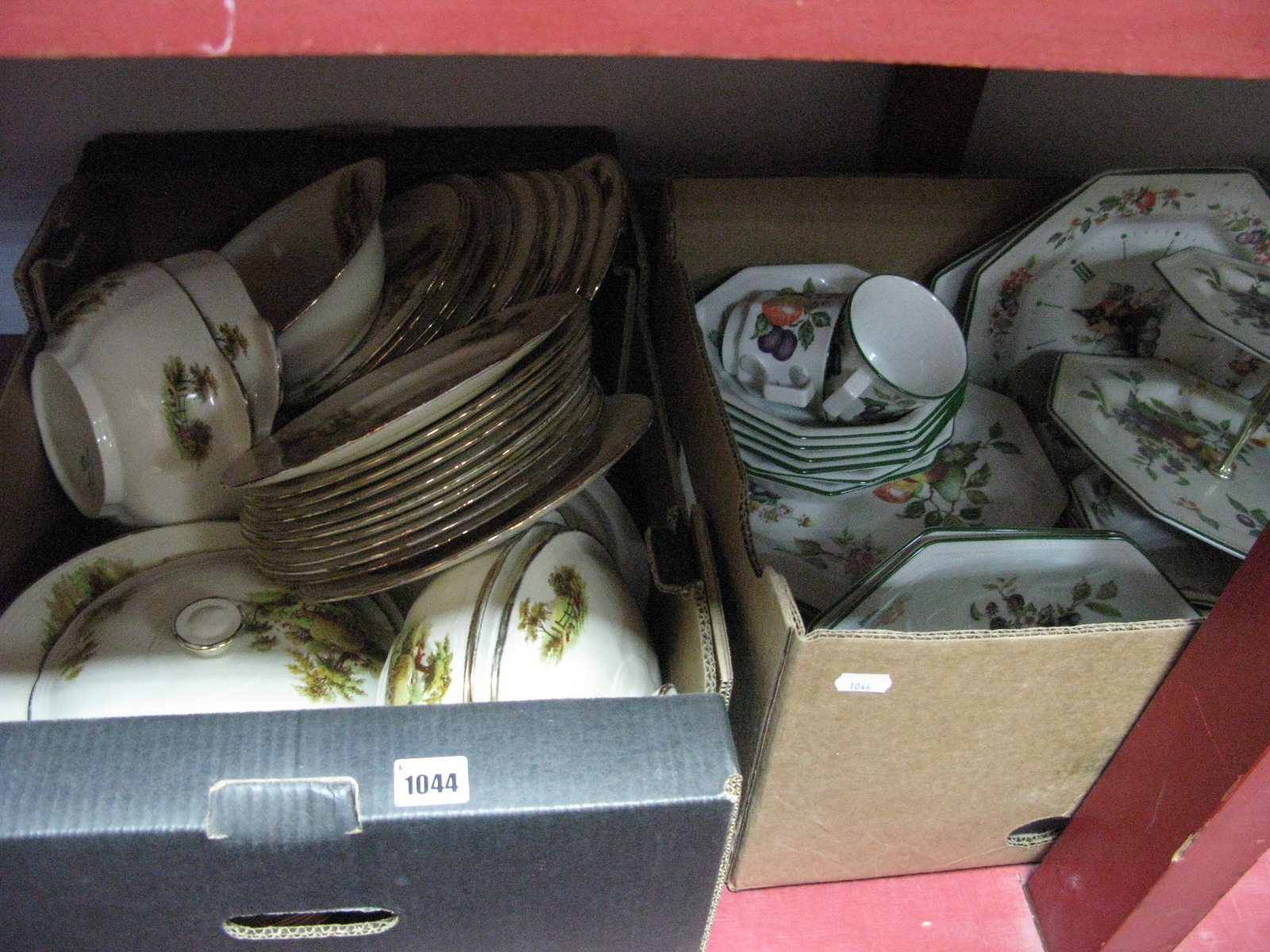 Lot 1044 - Johnson's 'Fresh Fruit and Meakin 'The Hay Ride' Dinnerware:- Two Boxes
