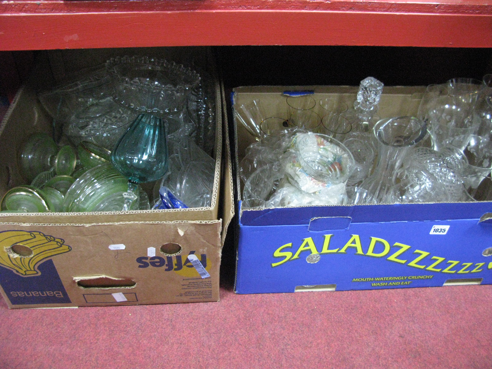 Lot 1035 - Quantity of Glass Ware:- Two Boxes