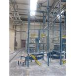 Steel fabricated 1250kg bulk bag empty station with GIS 1250kg pendant controlled electric chain