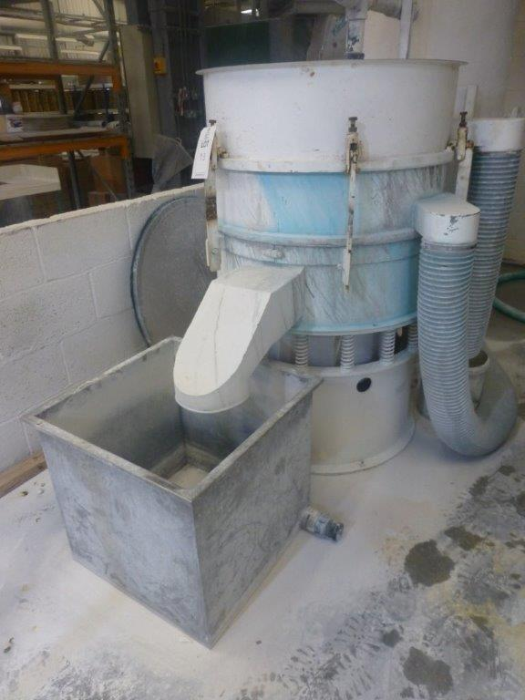 850mm diameter vibratory sieve with spare screen - Image 2 of 3