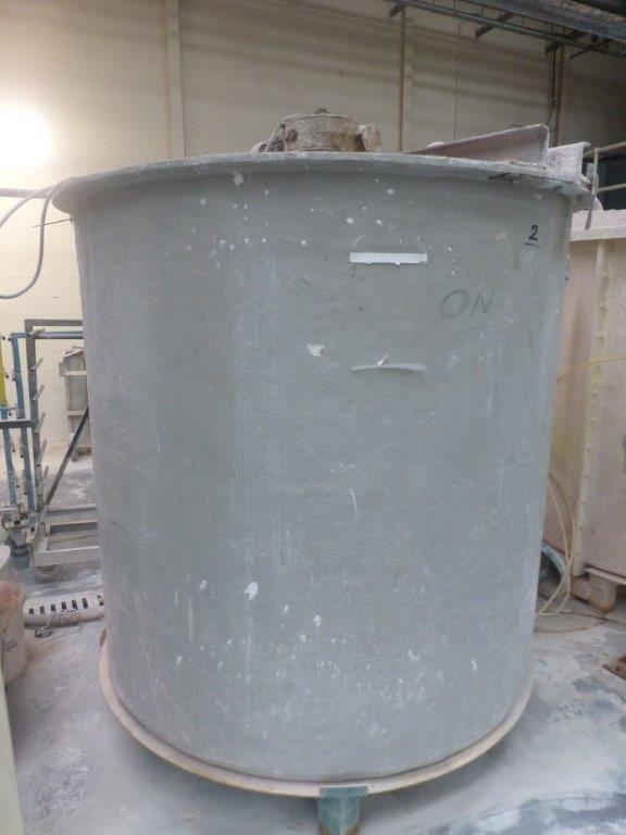 Lot 40 - 1.8m x1.8m GRP mixing tank, Plant No SHA19 Ground Pitcher Ark with motorised agitator