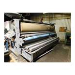 Crompton & Knowles 2 Roll Pad Machine, MFG # 76, serial # 6290, Model: 10TCP134, Length: 132""
