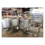 Keltronix Chemical Mixing System w/ (6) Stainless Steel Tanks: Keltronix Stainless Steel Tank, 32