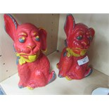 Lot 50 - x 2 Bonzo plaster dogs 1920's - 1930's