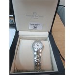 Lot 36 - Maurie Lacroix ladies watch with box and all papers. Good working order.