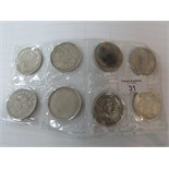 Lot 31 - 8 Tribute to foreign currency coins