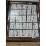 Lot 53 - Framed golf cards