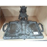 Lot 46 - Art Nouveau desk tray